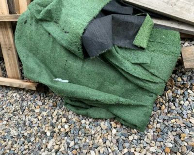 Artificial grass turf and pallets