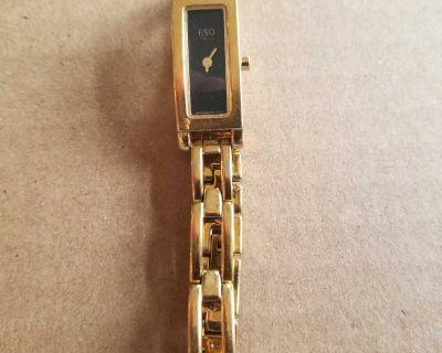 ESQ vintage gold watch