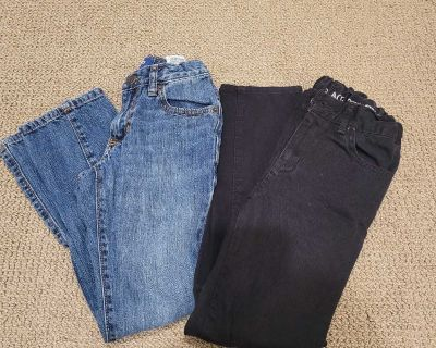 EUC boys size 8 pants, jeans are old navy slims, black pants are Children's Place skinny