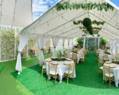Beautiful Chic Indoor / Outdoor Event Venue with Marbled Indoor & Gorgeous Tented Patio!, Burbank, CA