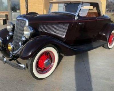 1934 Ford Convertible 2-door Convertible Deluxe Flathead V8 Original Restored Roadster
