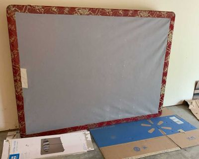 Queen bed frame and box springs. Great condition. Need gone today.