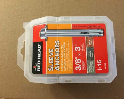 3/8 in. x 3 in. Hex-Head Sleeve Anchors 1 box 15-anchors