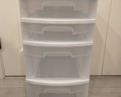 Storage container with 4 drawers