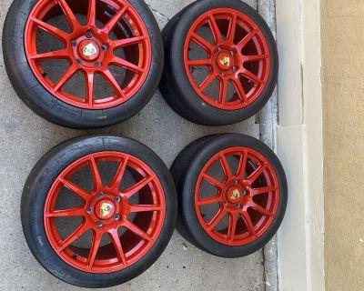APEX SM10 - 18x9 18x12 / Michelin slicks -Porsche 911 997 track wheels