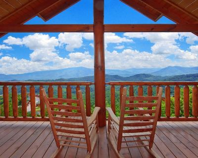AMAZING VIEWS! 8/6 Lg Families/Grps Welcome /Pool Gym Sauna Hottub /Games - Pigeon Forge