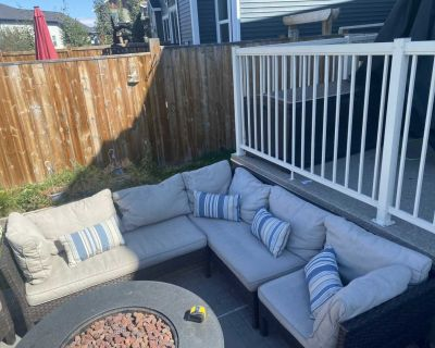 L shapes outdoor sectional and ottoman