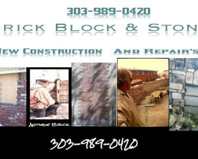 Brick Block & Stone - New Construction & Repairs (303) 989-0420