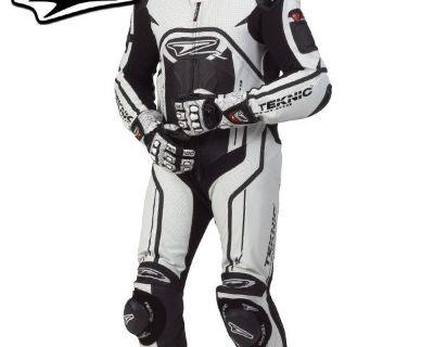2013 Teknic Xcelerator One-piece Race Suit- 44/white/black