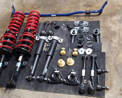Control arms, FP rear sway bar, tie rods, vertical links, bump stops, shock/strut mounts, etc.