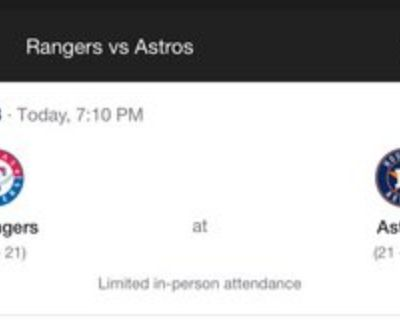 Astros Tickets May 14th