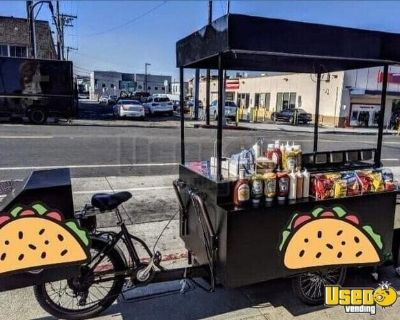 2019 - 9' Electric Bike Street Food Vending Concession Cart with Solar Panel Roof