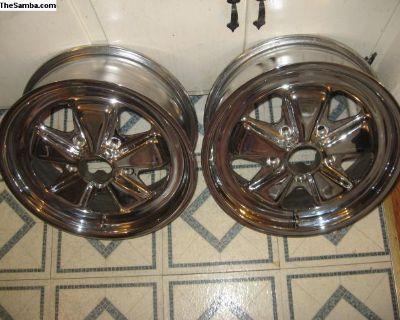 Porsche 911 chrome 6 x 16 wheel pair
