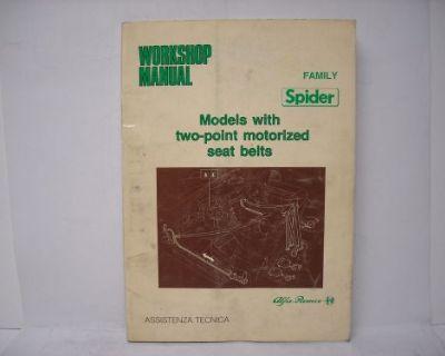 Alfa Romeo Workshop Manual Supplement
