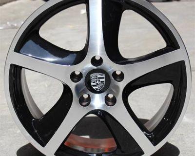 "Set (4) 20"" Porsche Cayenne Gts Vw Touareg Wheels Rims 4 New Black Machined"