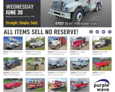 June 30 vehicles and equipment auction