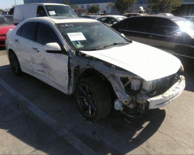 Salvage White 2010 Acura Tsx