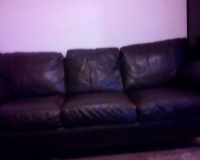 79 INCH ALL LEATHER SOFA