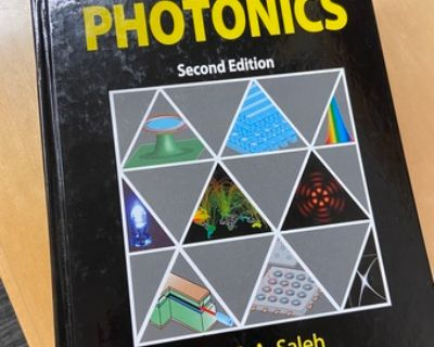 """EE134 textbook, Saleh and Teich, """"Fundamentals of Photonics"""", 2nd edit"""
