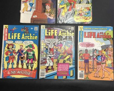 5 Vintage Life With Archie Comic Books
