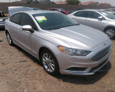 Salvage White 2017 Ford Fusion