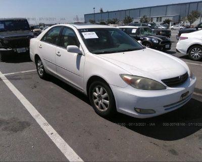 Salvage White 2003 Toyota Camry