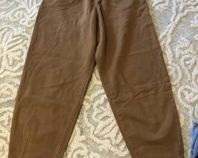 Brown balloon jeans