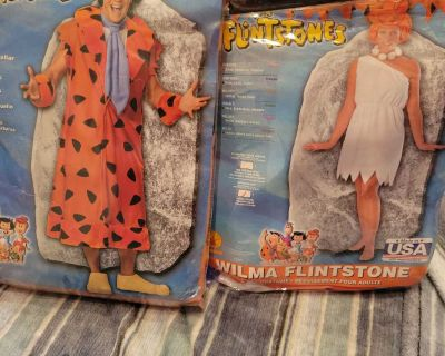 Used once, Fred and Wilma Flintstone Adults