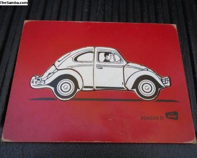 Vintage 60's/70's Wood Bug Puzzle For Kids