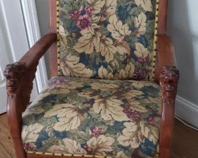 Antique lion head rocking chair