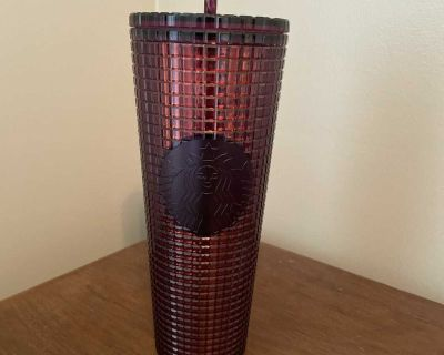 Brand new, was washed but not used, 24oz Starbucks tumbler with straw. $15