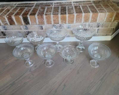 Assortment Of Glass Pedestal Candy Dishes