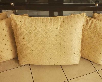 Silk-Threaded Sofa Cushions