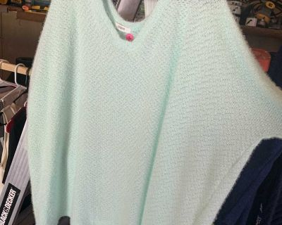 Mint green light weight poncho top