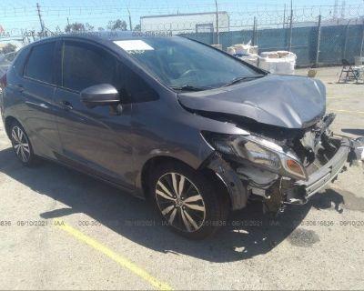 Salvage Gray 2015 Honda Fit