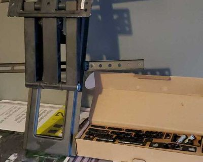 24 inch tv mount with various bolts