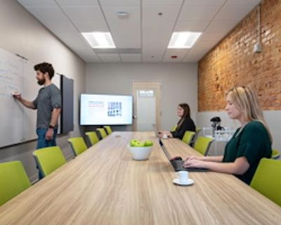 Private Meeting Room for 12 at Flywheel Coworking at the Cabarrus Center