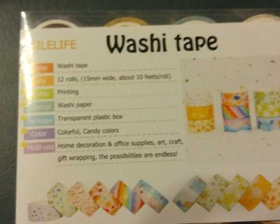 12 rolls of Washi tape ( not included in half price sale)