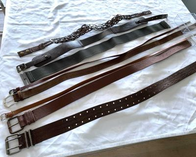 BE 1st -$20 for all 8 belts in varying shades of brown. All in great condition and worn only a few times.