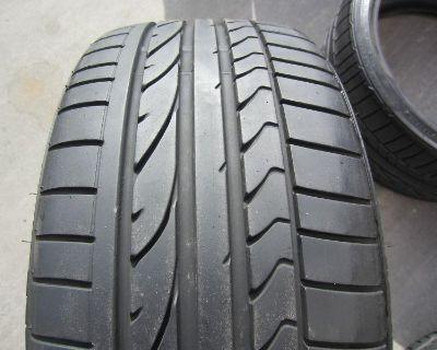 4 Used Bmw Tires 225/40/18 & 255/35/18 Bridgestone Potenza Re050 Rft Run Flat