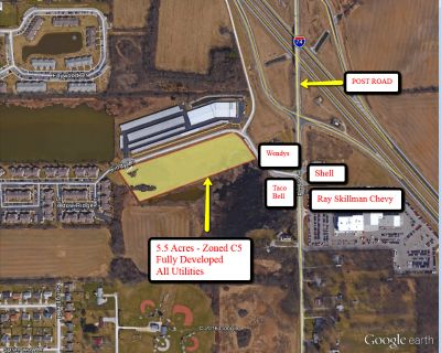 C-5 land at I-74 & Post Rd 5.5 Acres