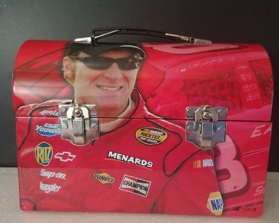 Never Used! Dale Earnhardt Jr #8 Dome Top Metal Lunch Box #81317