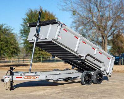 """2021 MAXXD TRAILERS 14'X 83"""" TELESCOPING DUMP DTX Trailer - Dump Elk Grove, CA"""