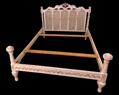 Beautiful Antique Hand Painted Bed Set