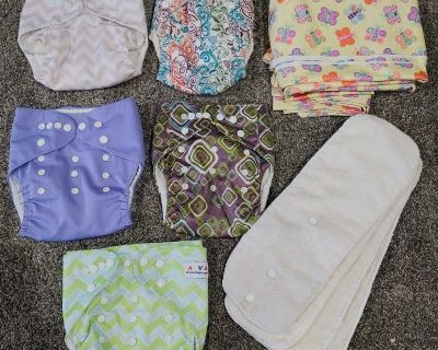 5 cloth diapers