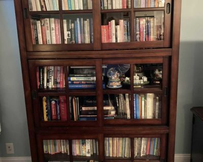 Wood and glass cabinet