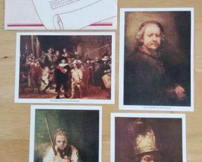 Vintage Rembrandt Prints Master of the Arts - Set of 4