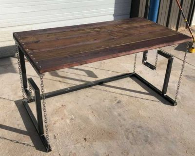 DONATE!! Rustic Tensegrity Table - Hand-Crafted in Lubbock - Brand NEW