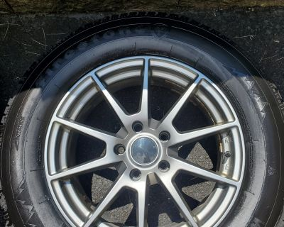 """Used Sport Edition WX9 18"""" wheels with Firestone Winterforce 2UV tires and TPMS sensors"""