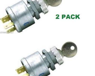 2 Pack Ezgo 4 Prong Key Ignition Light Switch 4 Keys 81 + Gas & Elec Golf Cart